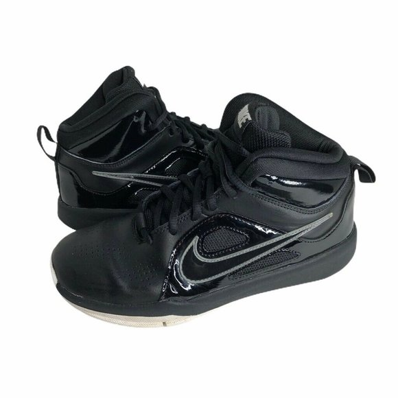 Nike Other - Nike Team Basketball Shoes Black Sneakers Sz 4.5Y